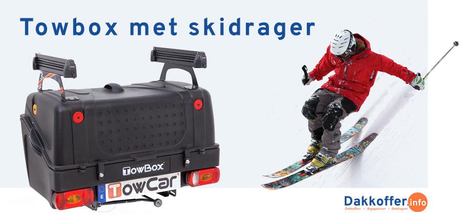 Towbox bagagebox met skidrager